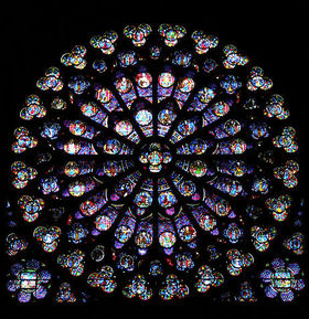 Notre Dame Rose Window South Rose Window - Bronze with 14k Gold Filled Chain