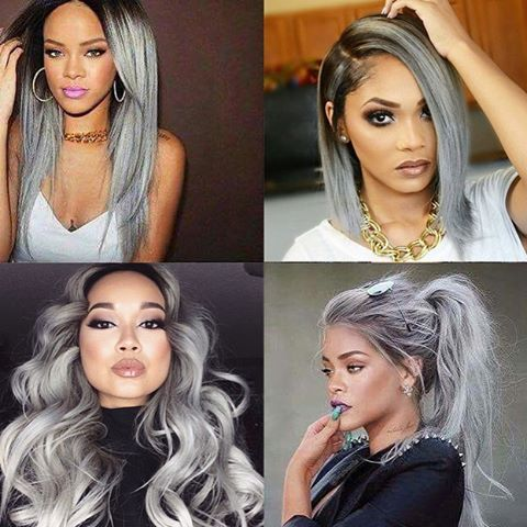 rihanna with gray hair extensions google search hair