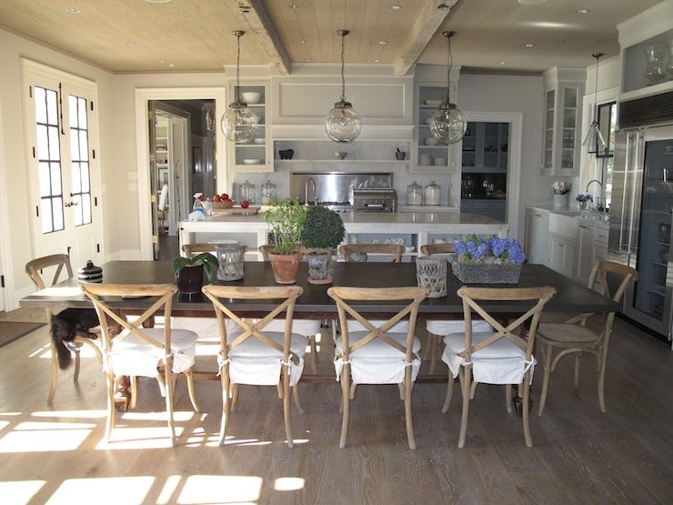 Jane Green   Kitchens   Restoration Hardware Madeline Chair, Wall, French  Doors, Rustic
