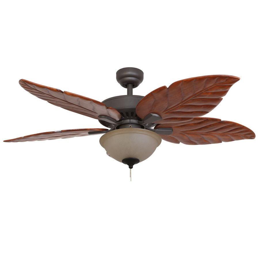 Palm Coast San Martin 52 In Bronze Downrod Or Close Mount Indoor Ceiling Fan With Light Kit