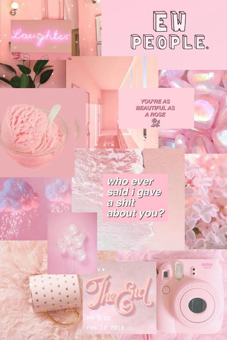 Pastel Pink Collage For You People Kertas Dinding Dinding Gambar Wallpaper Ponsel