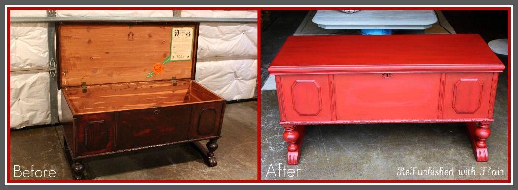 Lane Cedar Chest Updated With Maison Blanche S Cerise With