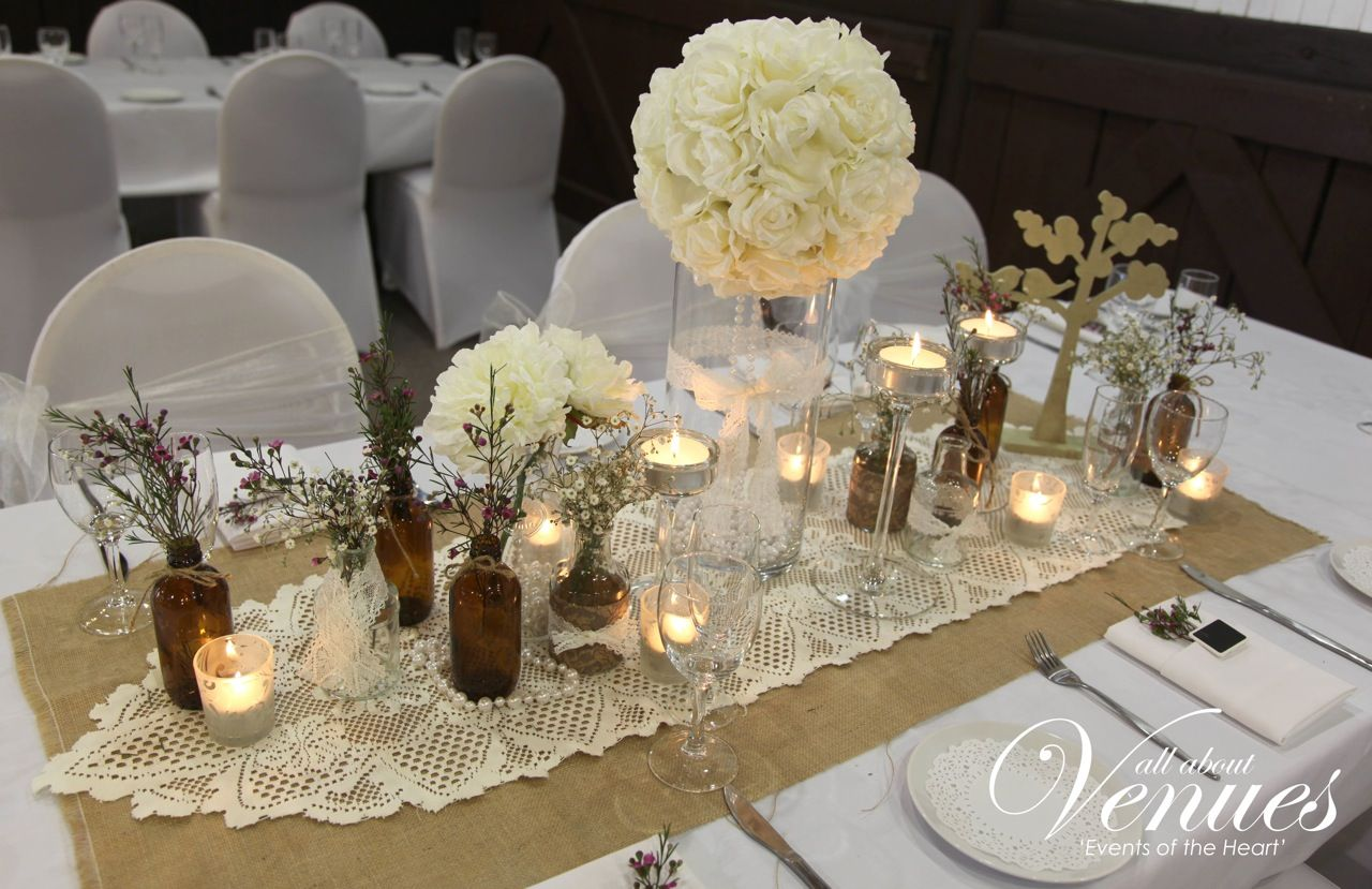 Vintage wedding table decorations archives weddings for Wedding banquet decorations
