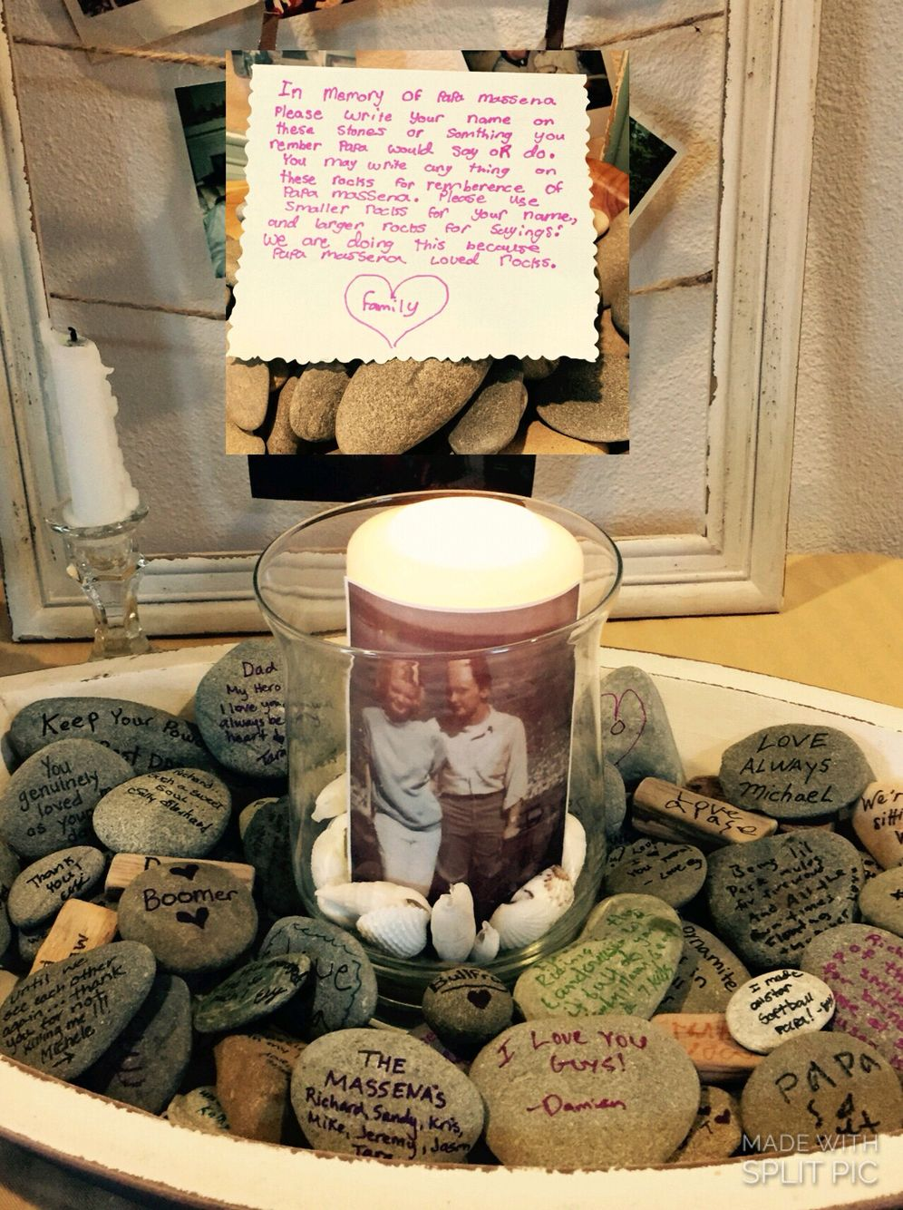 Pebbles Can Be Used In Place Of A Traditional Guestbook And Can Be Displayed In The Home For Years To Come Memorial Stones Funeral Memorial Funeral Reception