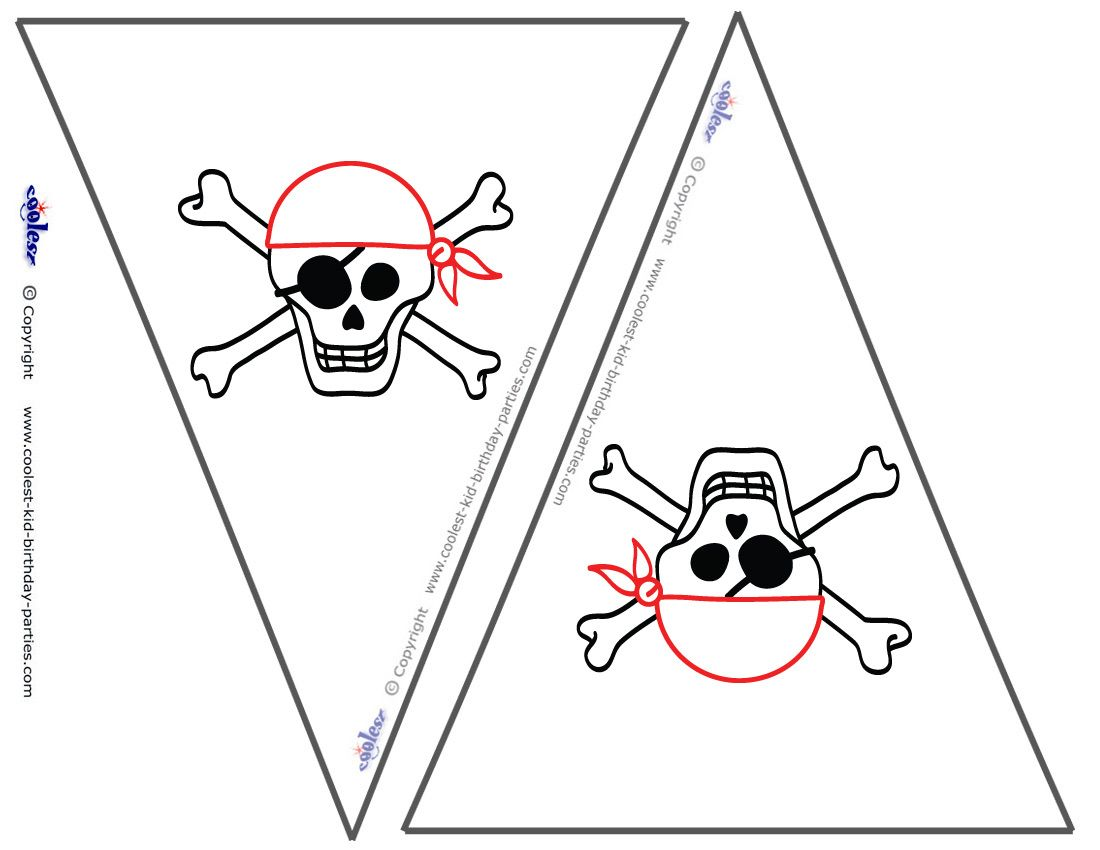 small printable skull flags coolest free printables