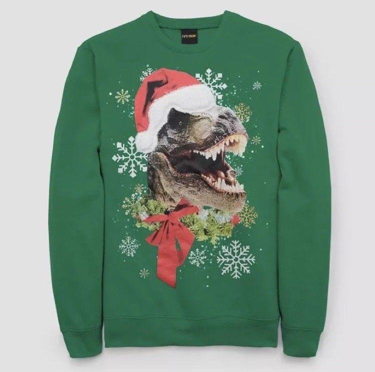 Ugly Christmas Ugly T-rex Dinosaur Trex Toddler//Kids Long Sleeve T-Shirt