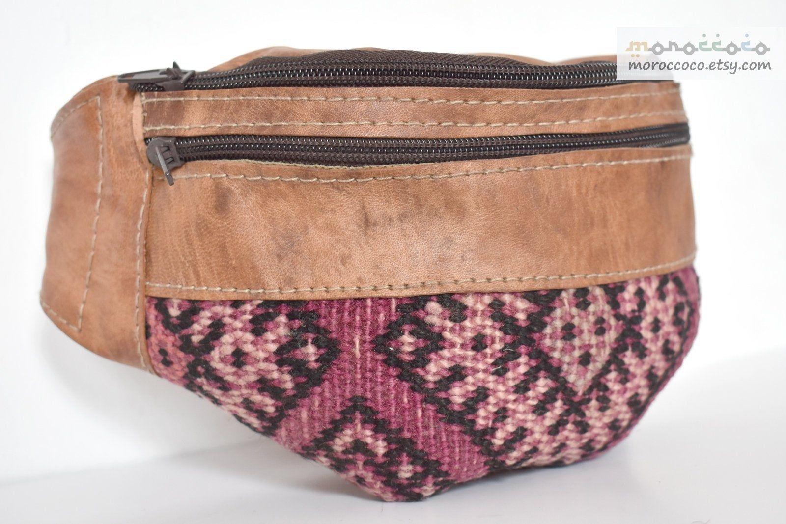 Bolso kilim de cuero, diseño único Kilim, bolso hecho a mano