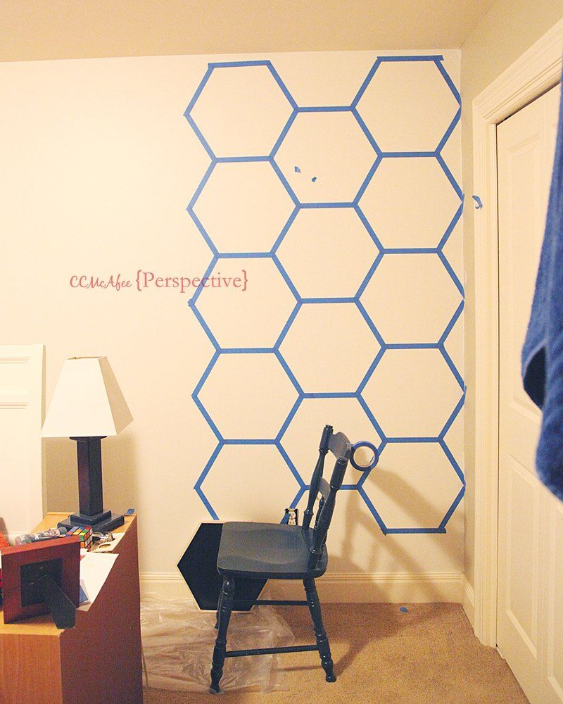 Hexagon Wall - Tween Boy Room Focal Wall | Focal wall, Tween and Room