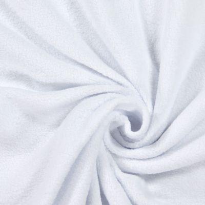 Bomuldsfleece 1 - Bomuld - Polyester - hvid