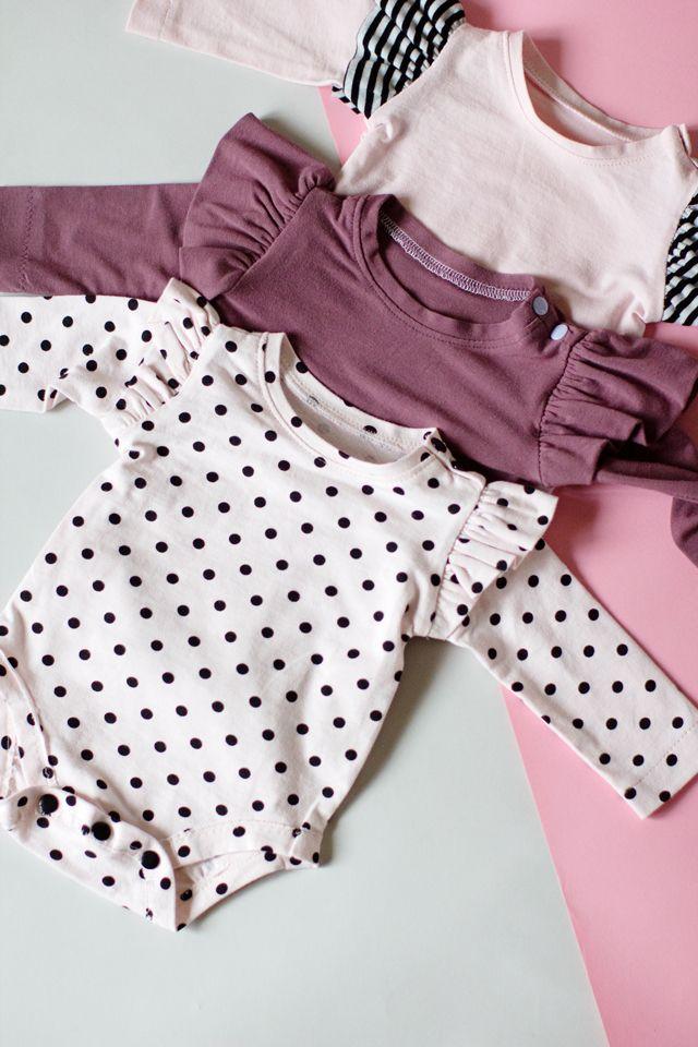 Ruffle Sleeve Onesie + Basic Onesie Pattern (FREE   Sewing ...