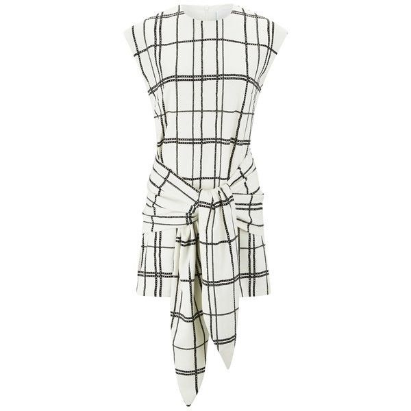 C/MEO COLLECTIVE Women's Hands On Tailored Dress ($91) ❤ liked on Polyvore featuring dresses, cream, tailored white dress, white dress, tailored dresses, cream dress and white cocktail dresses