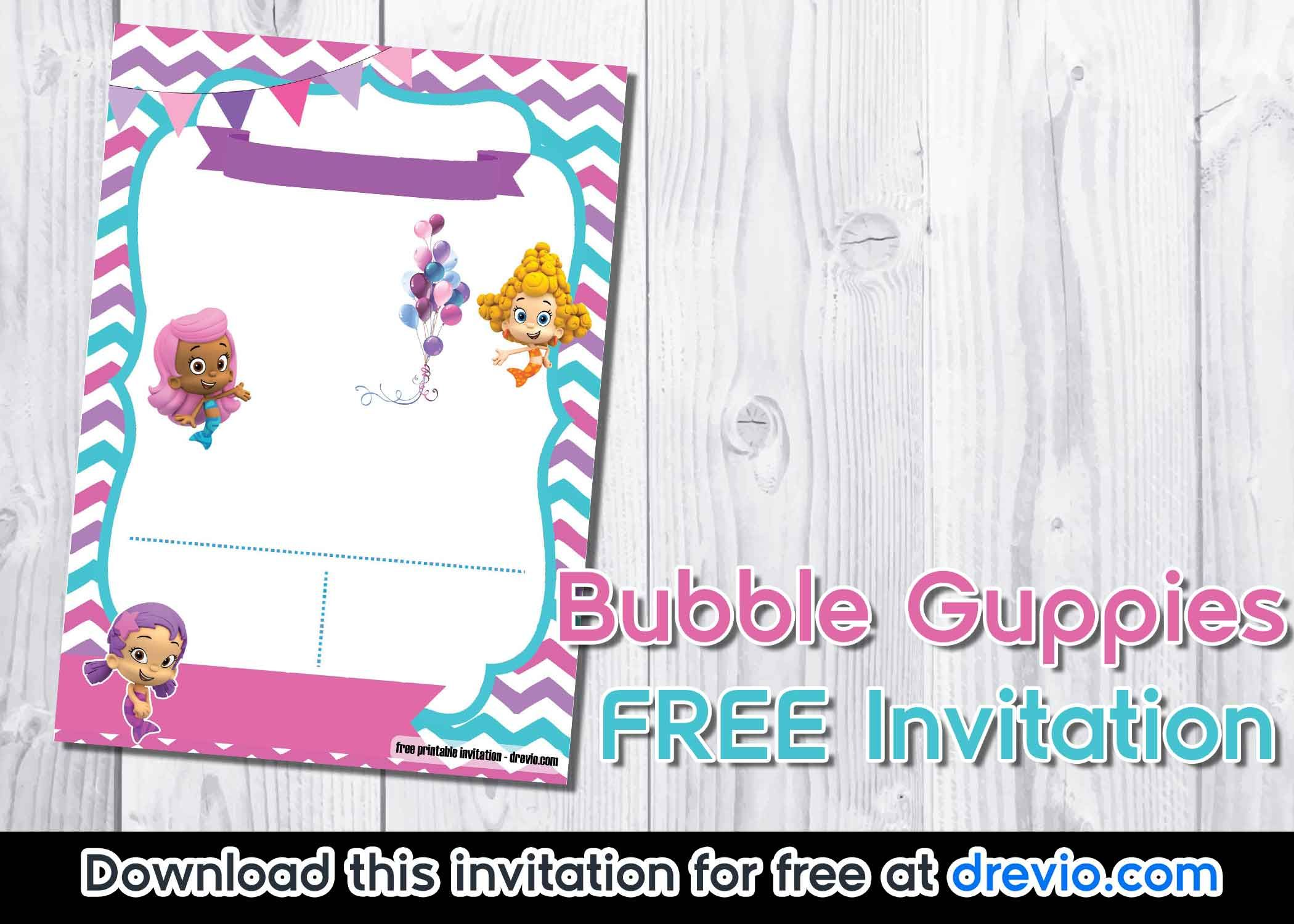 FREE Bubble Guppies invitation template (With images ...