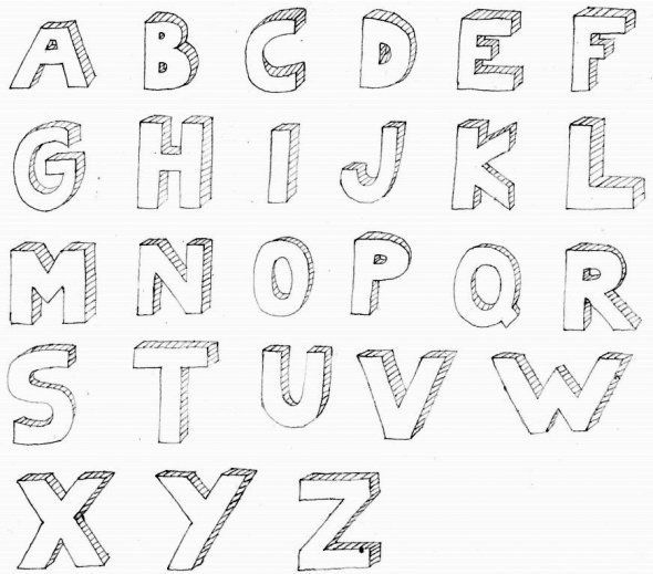 Drawing D Block Letters D Bubble Letter Alphabet For  Fonts