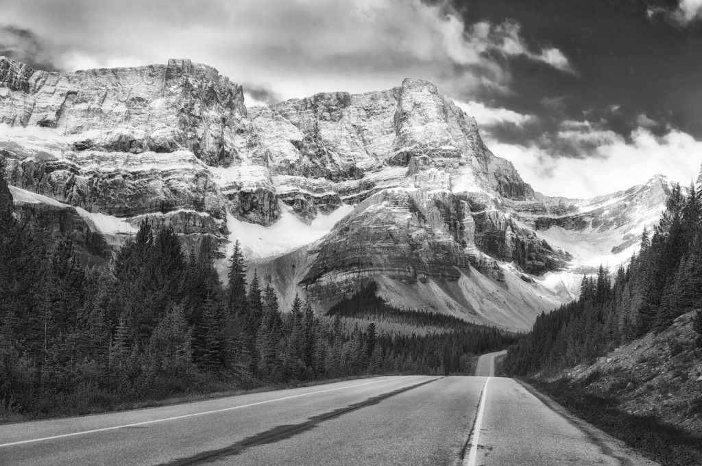Mountains in Banff National Park Canada by Ansel Adams