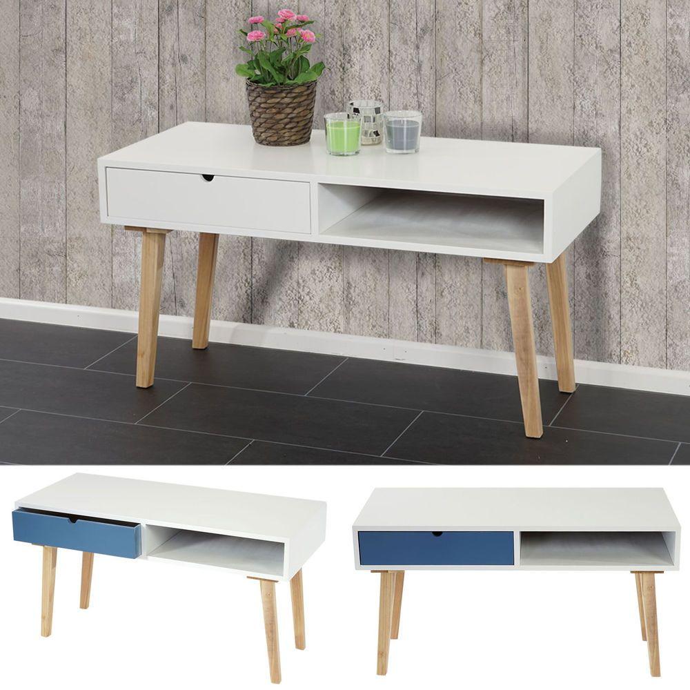 kommode malm t265 beistelltisch schrank retro design 49x90x40cm blau wei in m bel wohnen. Black Bedroom Furniture Sets. Home Design Ideas