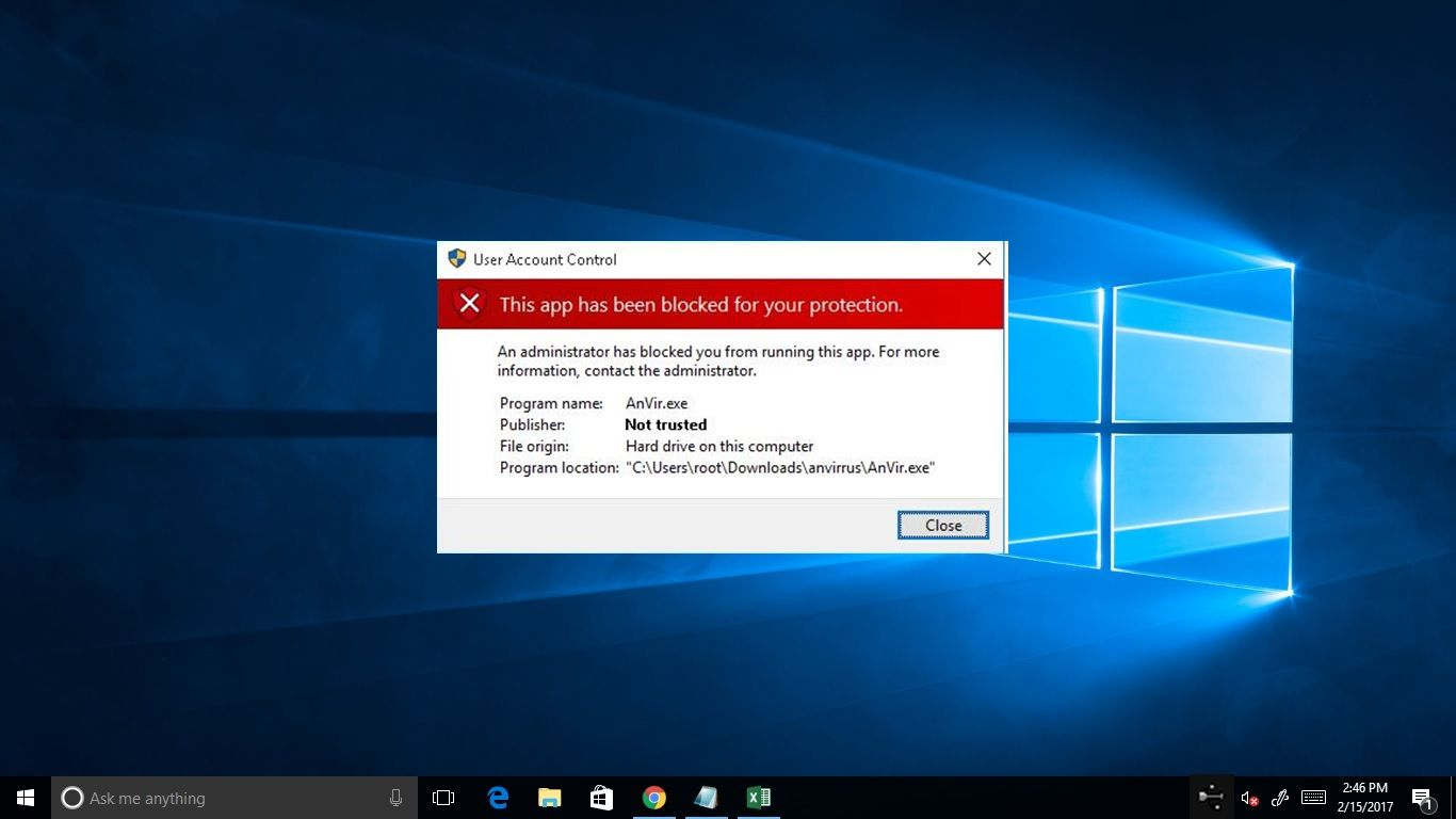 Fix This App Has Been Blocked For Your Protection in Windows