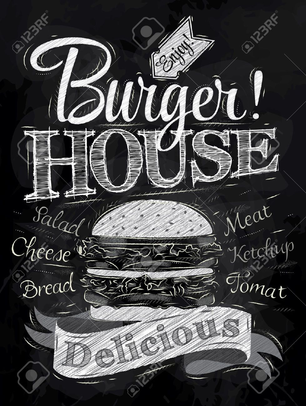 chalk burger Поиск в google chalkboards founts pinterest