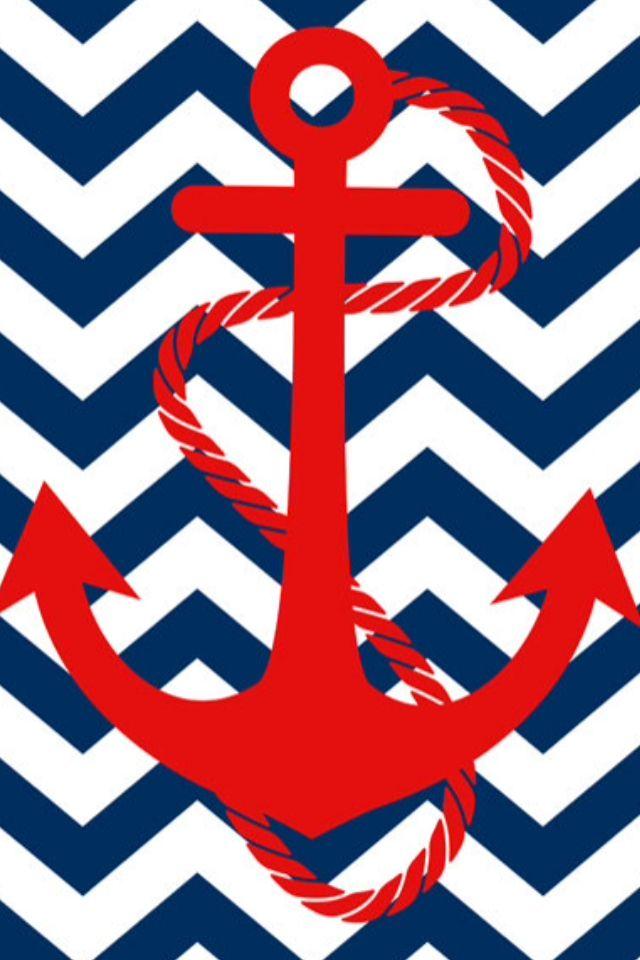 Anchor And Chevron Wallpaper N A U T I C A L Anchor