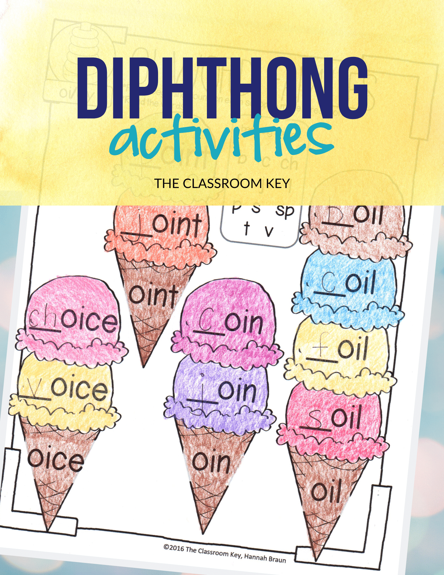 Diphthong Activities