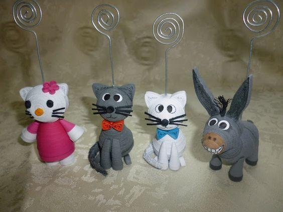 Papírvilág: papír állatkák / quilled miniature 3d animals: