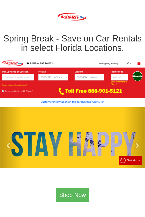 Best Deals And Coupons For Easirent Us Florida Location Fort Lauderdale Rental