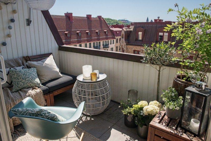 Delicioso Atico Entre El Rustico Y El Nordico Balcon Decoracion