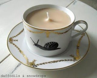 Candle - Handmade by daffodils & snowdrops Decorative Tea Cup - Zara Home Fragrance -Rose