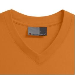 Photo of Premium V-Neck T-Shirt Plus Size Men, Orange PromodoroPromodoro
