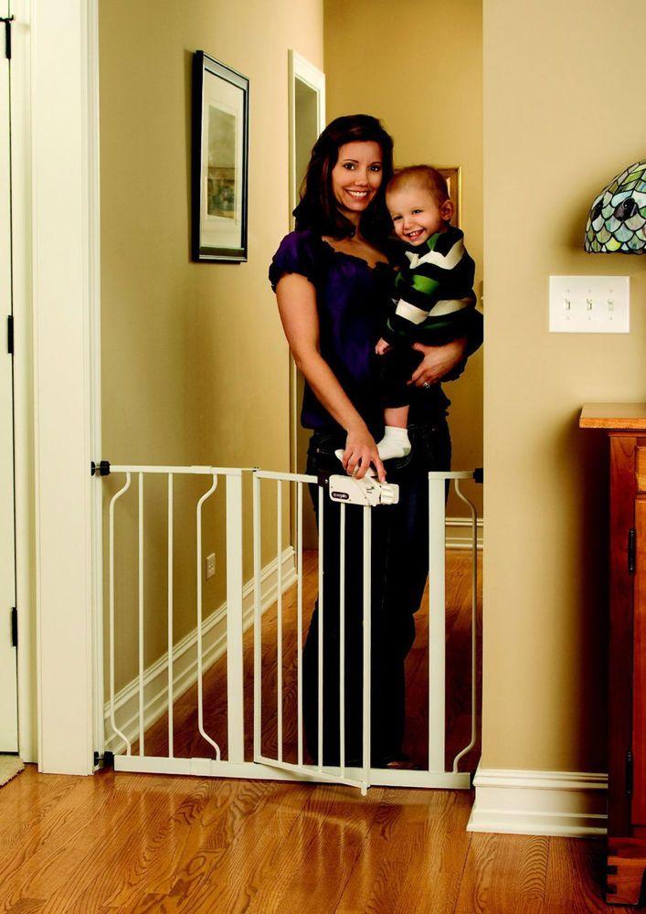 Baby Safety Gate Door Stair Dog Child Barrier Toddler Fence Pet Gate Walk Thru