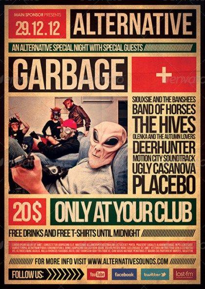 alternative flyer poster 2 idea pinterest poster flyer