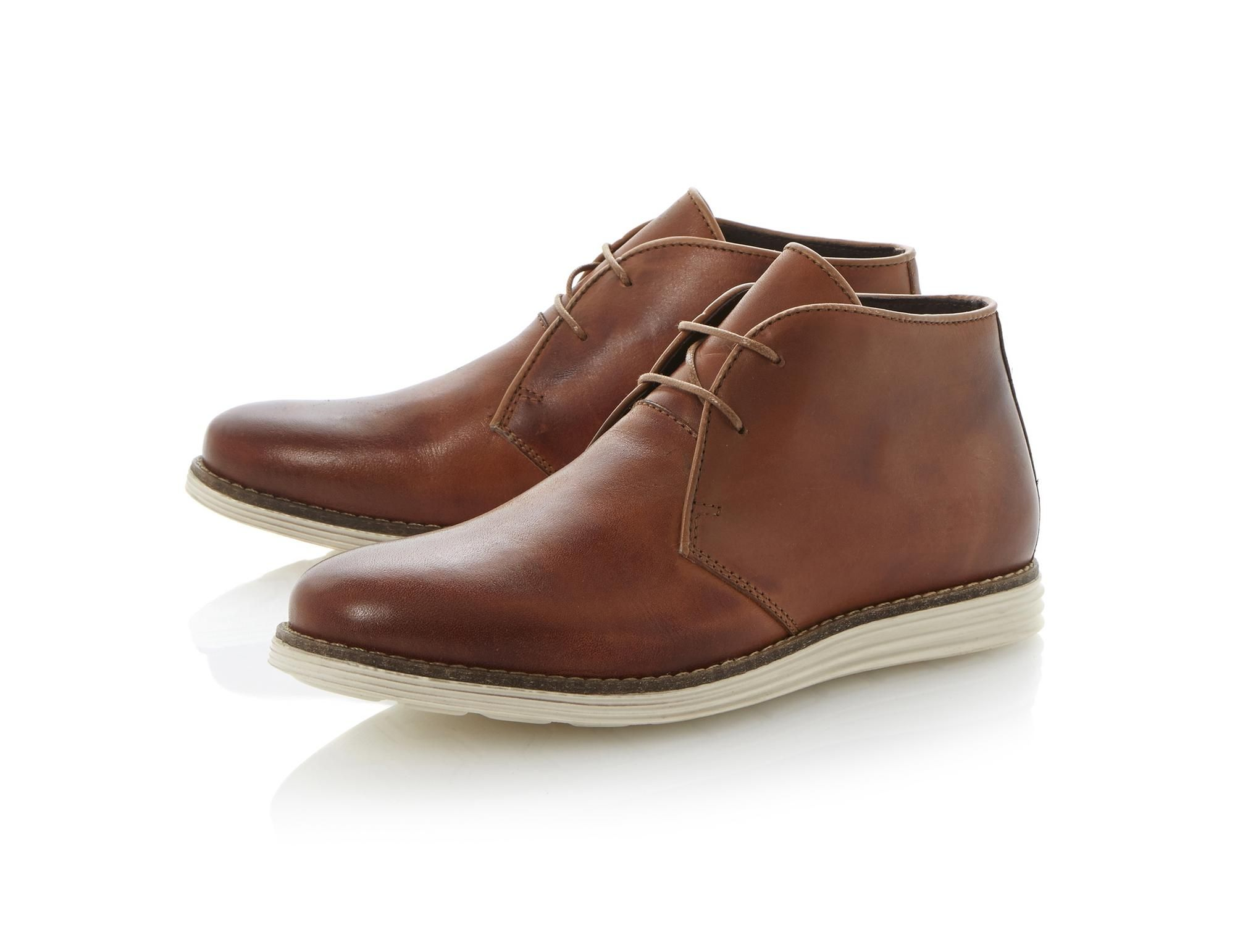 newest collection super specials entire collection DUNE MENS CHRISTOFF - White Sole Leather Chukka Boot - tan ...