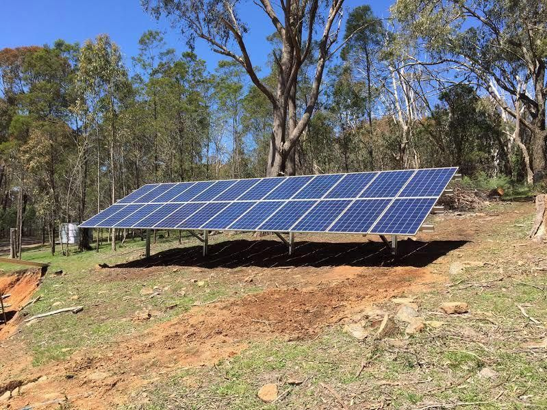 Off Grid Solar Power In Violet Town Victoria 6kw Ground Mounted Off Grid Solar Power System With A 16kwh Off Grid Solar Power Off Grid Solar Electricity Usage