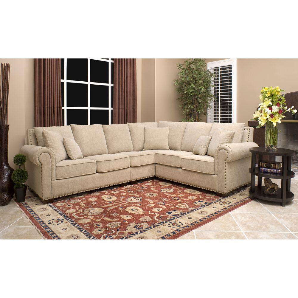 Superb Abbyson Living Santa Barbara Fabric Sectional | Overstock.com