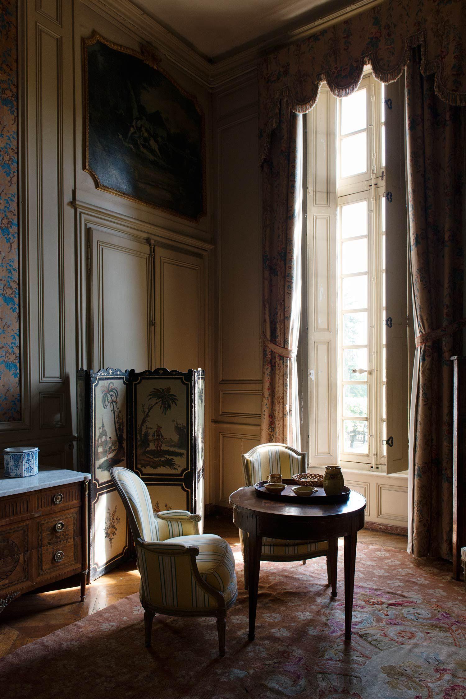France Chateau De Bouges Interieur Classique Design Interieur