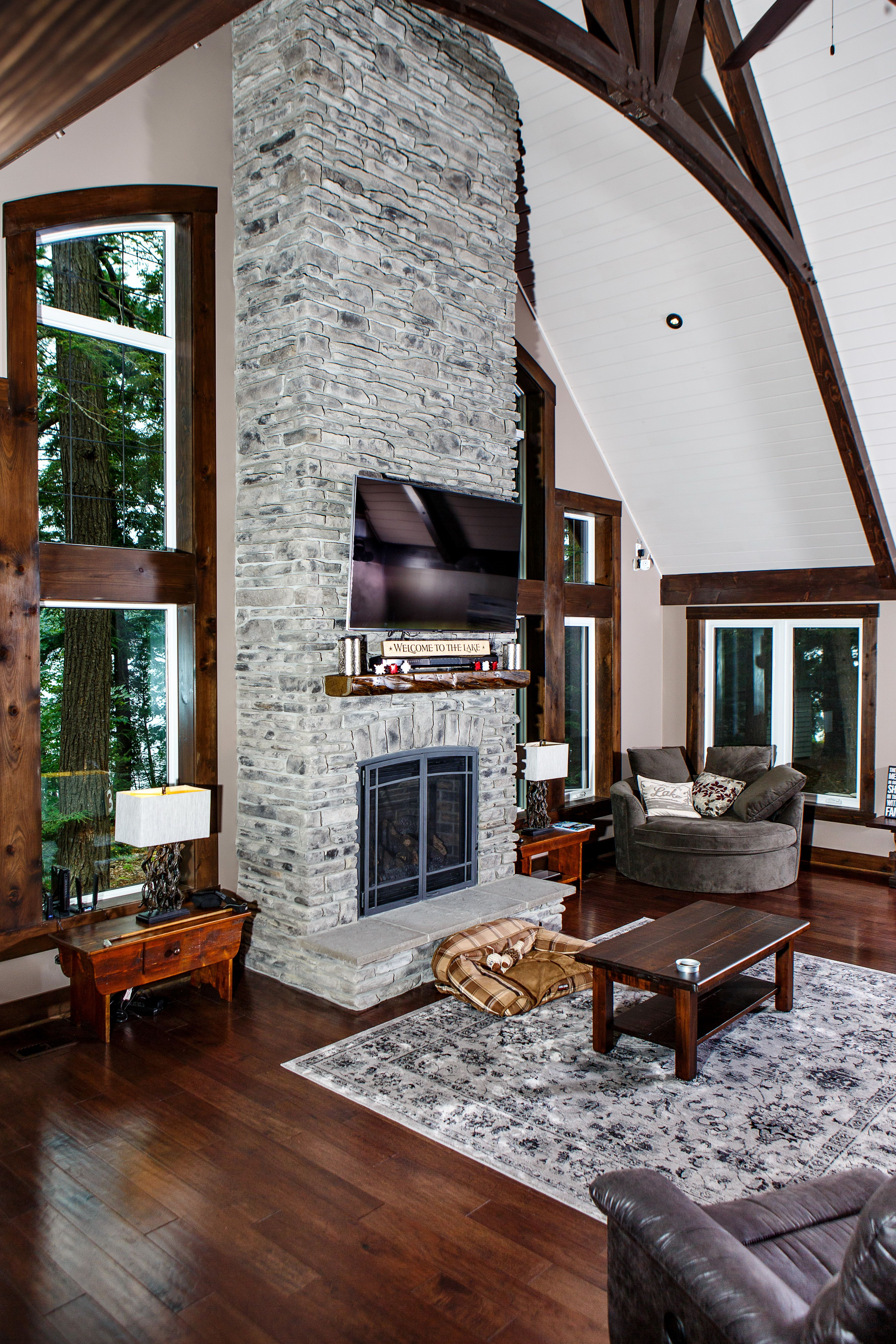 private custom sliding cedarland cottages furniture bedroom homes pin deck door master glass whitefish cottage