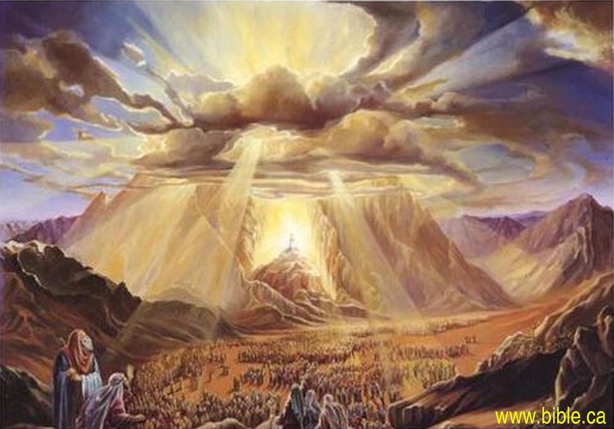 jesus and mount sinai This confirmed god's promise in jeremiah 31:31-34 and was the promise from the father that jesus had parallels of sinai at mount sinai on 46th day.