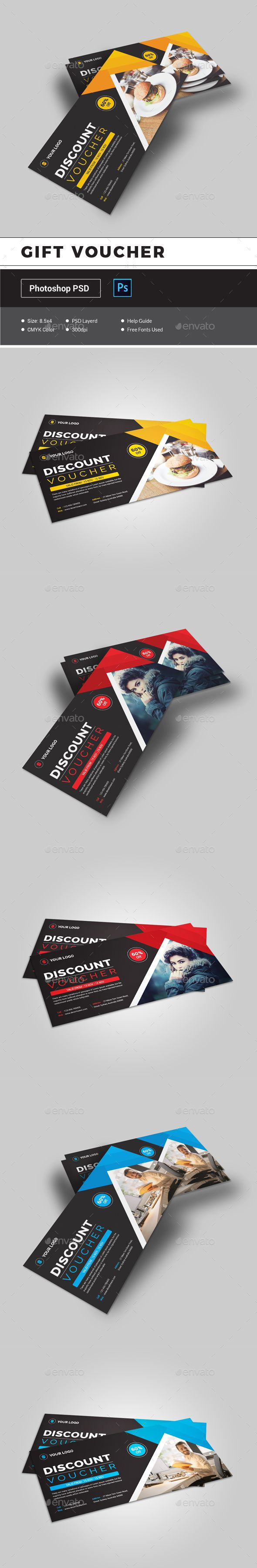 Gift Voucher Template PSD. Download (With images) Gift