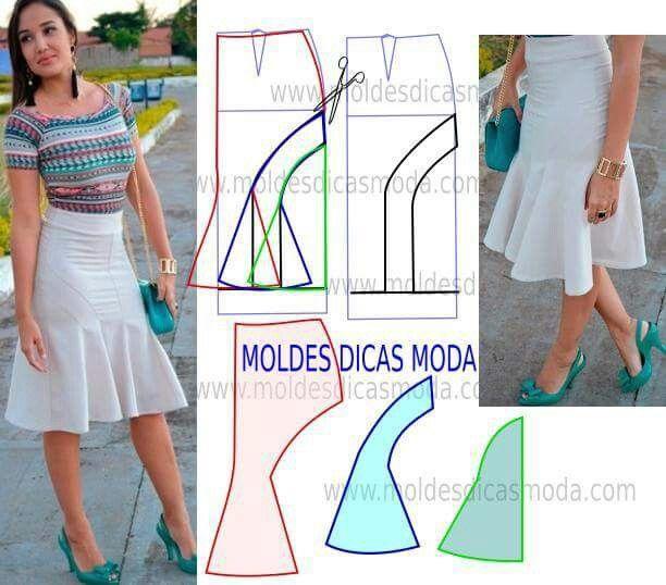 Sewing Pattern - flip skirt | Patrones | Pinterest | Costura ...