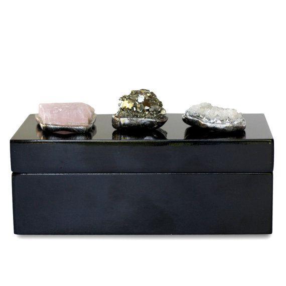 Raw Stone Geode Box Rose Quartz Box Raw Crystal Box Mineral Box Coffee Table Box Quartz Decor Decorati Crystal Box Raw Gemstone Jewelry Box Roses