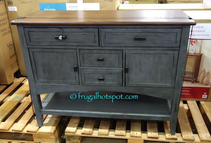 Costco Bayside Furnishings Blue Gray Accent Cabinet 299 99