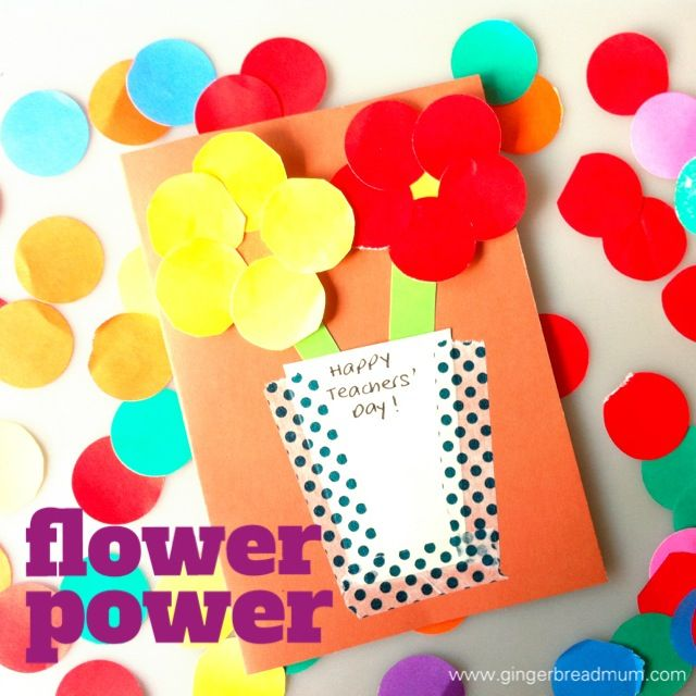 Five Teachers Day Cards To Make With Your Preschooler Gingerbreadmum Singapore Mum Blogger Card Making For Kids Teachers Day Card Teachers Day