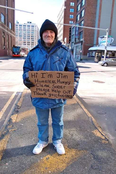 Artists Make Hand Painted Signs For Homeless People With Touching Results Homeless People Hobo Signs Homeless