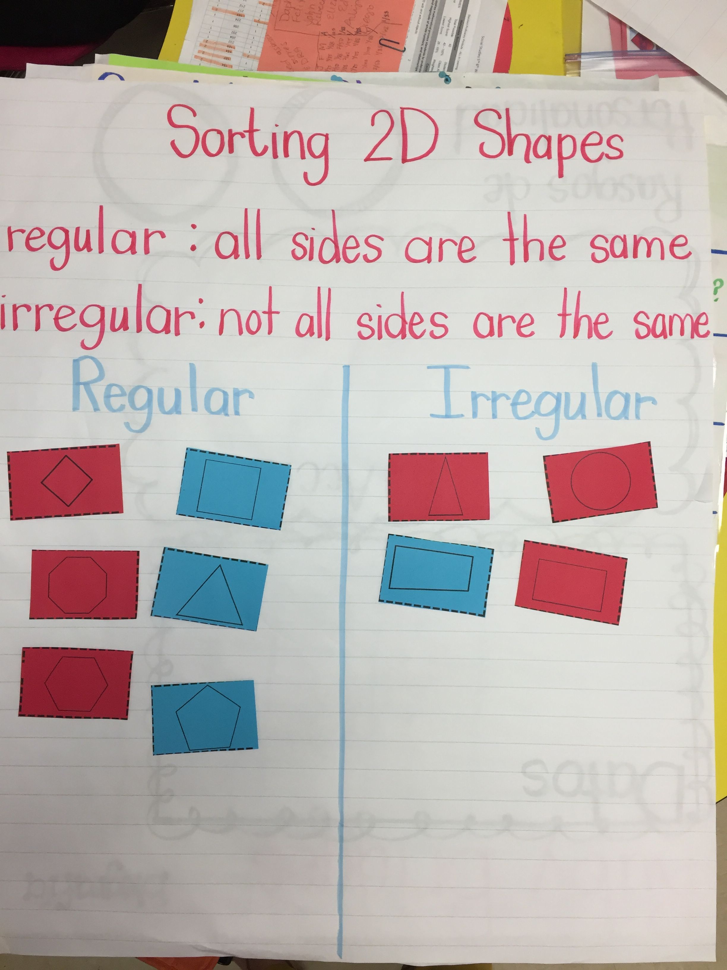 Sorting Regular And Irregular Shapes