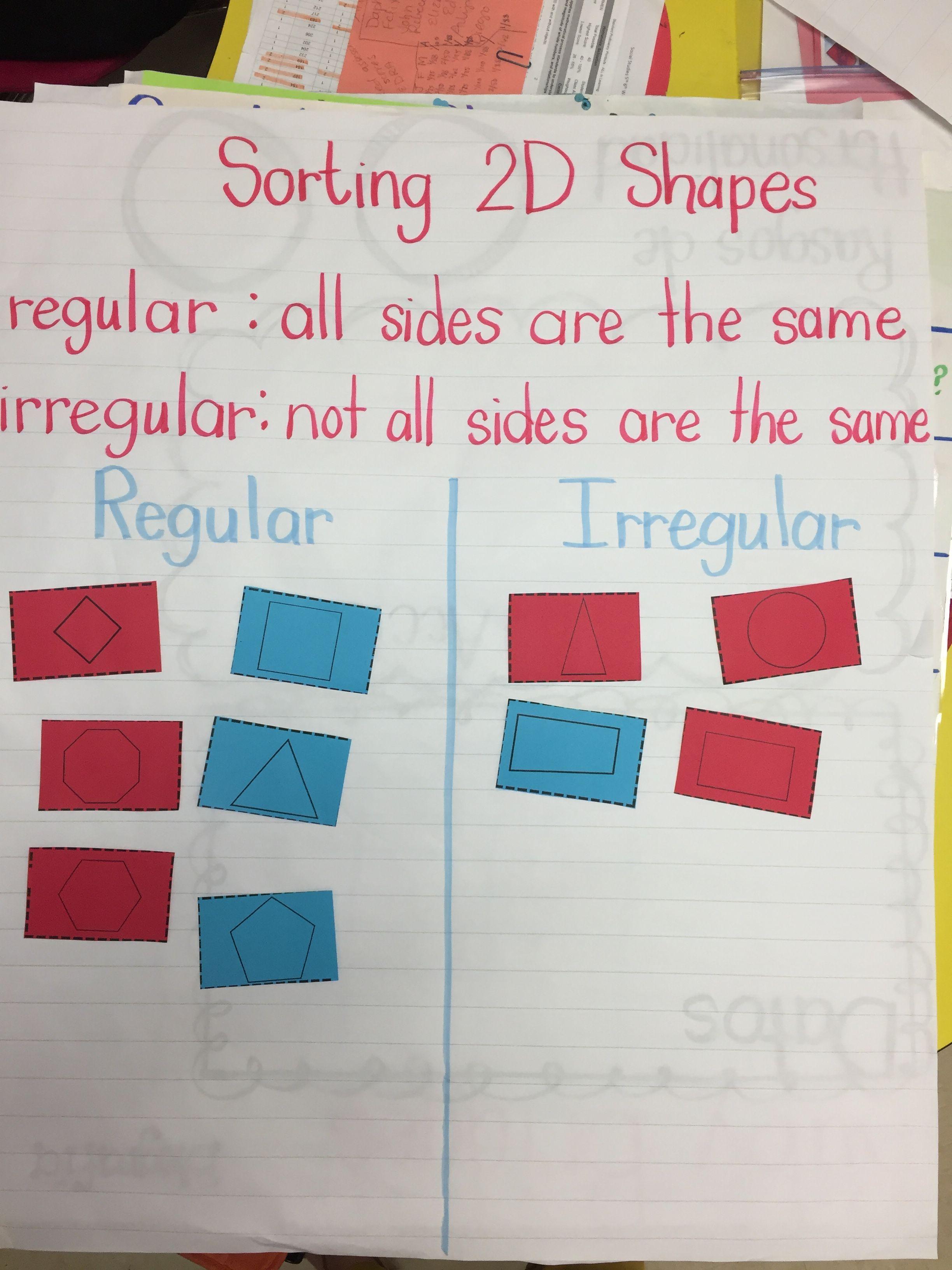 Sorting Regular And Irregular Shapes