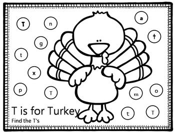 Thanksgiving Letter ID Coloring Pages | Kindergarten Ideas ...