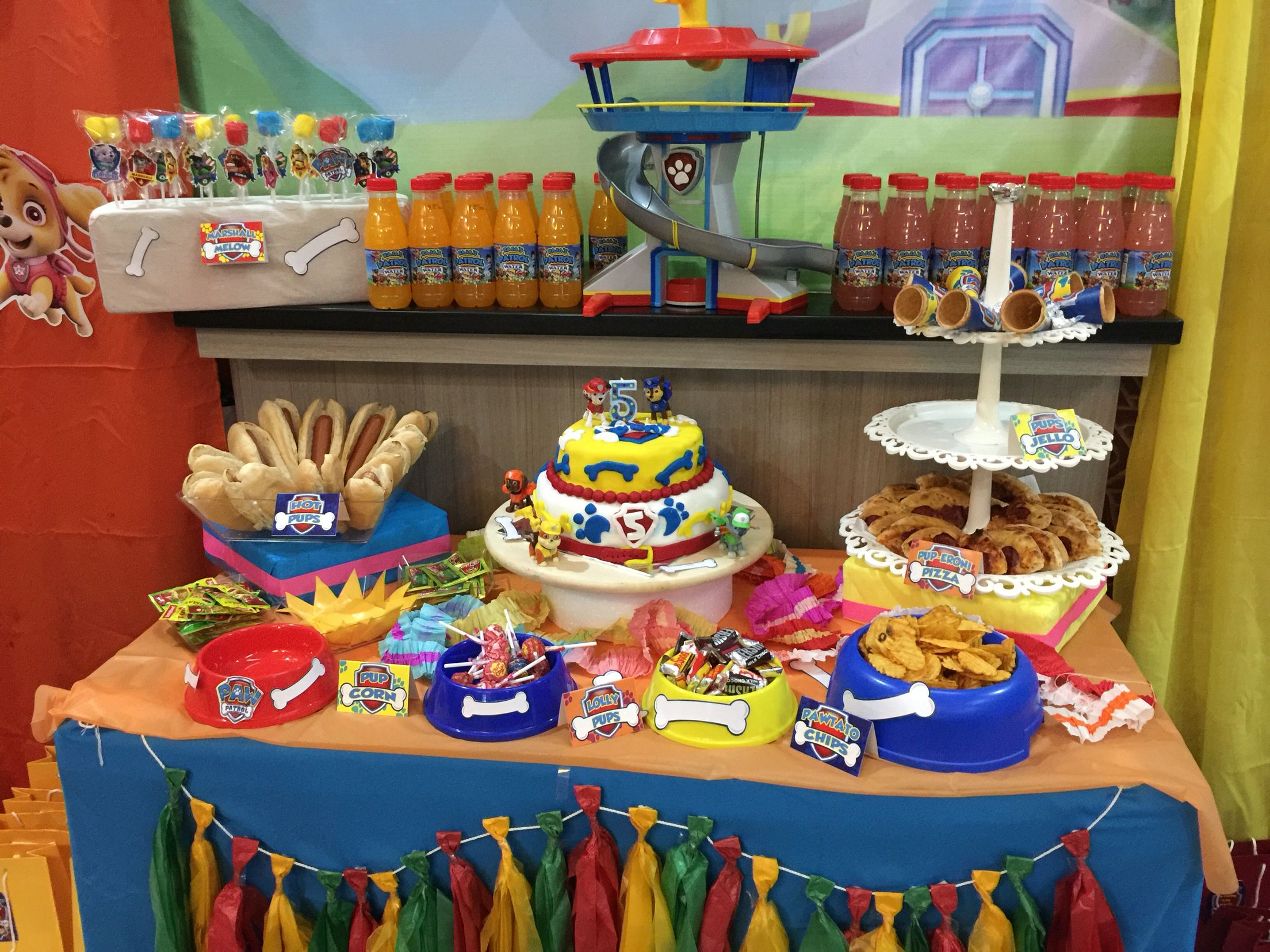Simple Table Setting For Paw Patrol Party
