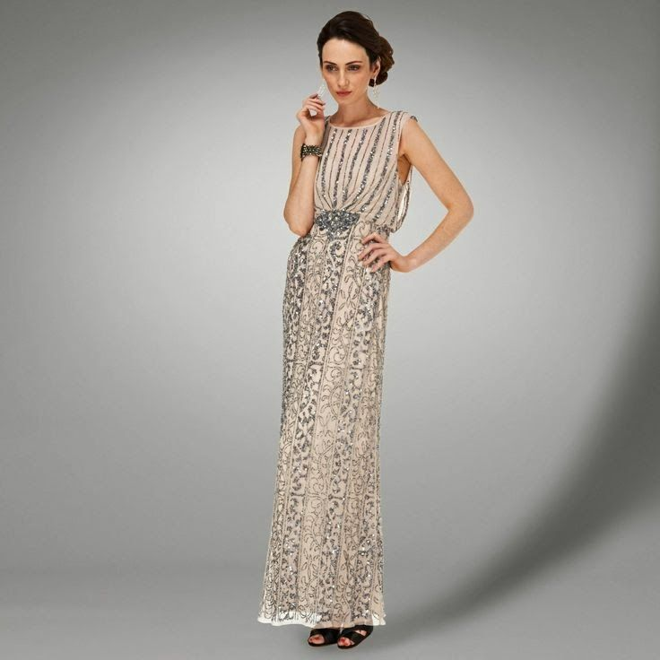 Gatsby Style Affordable Beaded Wedding Dress