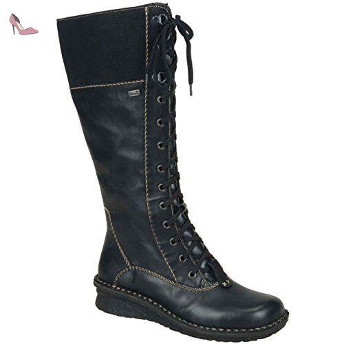 Rieker Woman Boot Cristallino Wildebuk Black 41 Chaussures