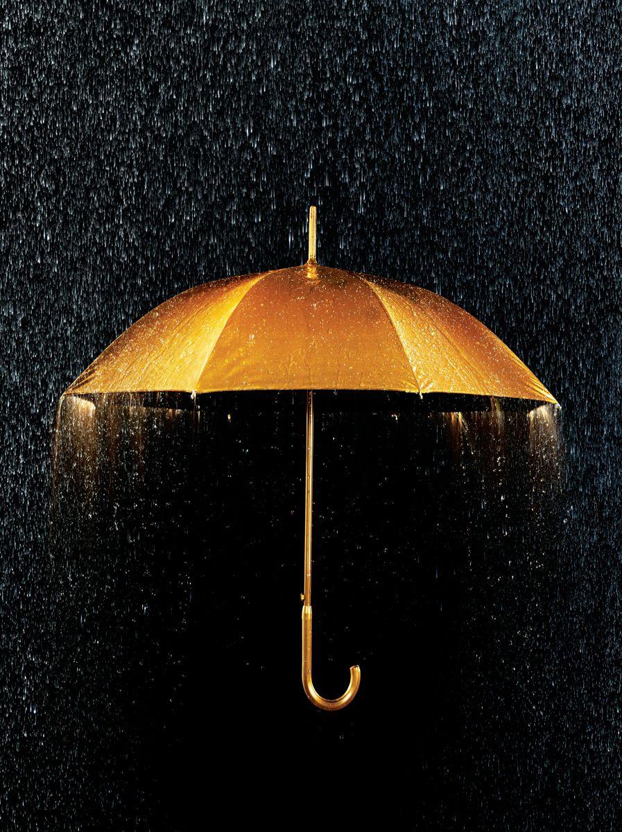 0a27e5e7b51c1 Gold Photography | Gold Gold Umbrella + Rain | Conceptual Still Life –  Annabelle .