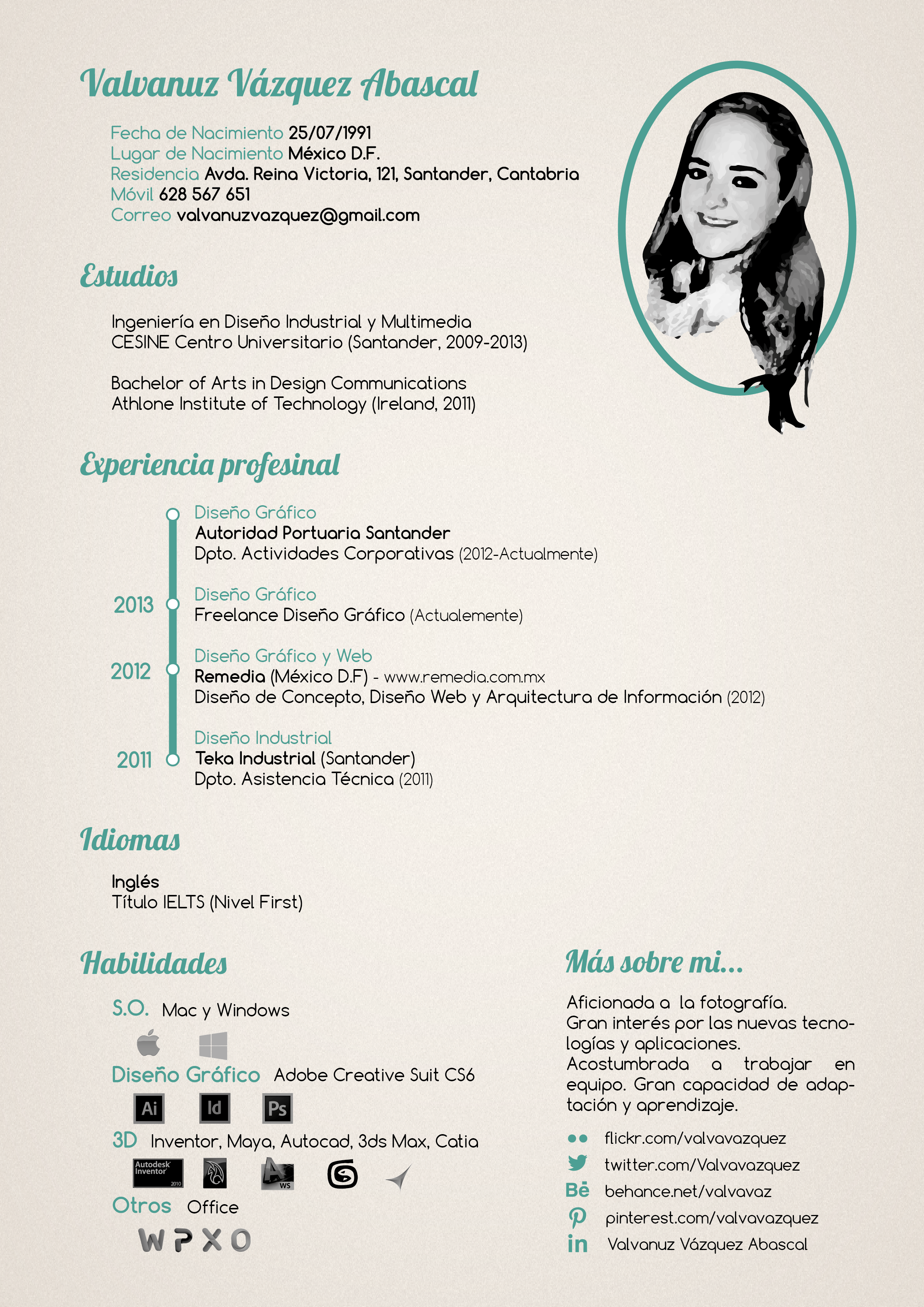 Curriculum Vitae estilo vintage | CURRICULUMS Creativos | Pinterest ...